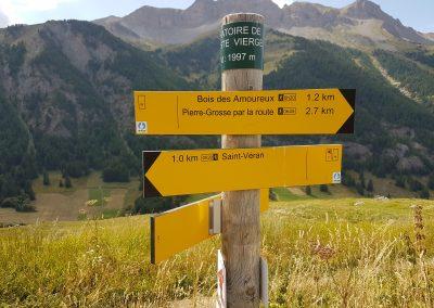 Panneau de randonnées