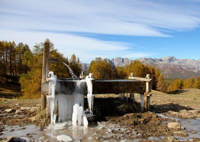 Fontaine gelée au Bois de St Simon