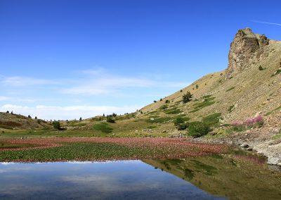 Lac noir dans la vallée de Cervières